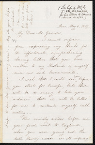 Letter from Harriet Minot Pitman, Prov[idence], [R.I.], to William Lloyd Garrison, May 4, 1867