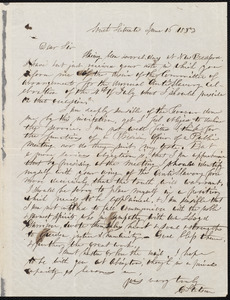 Letter from Samuel May, Jr., Leicester [Mass.], to William Lloyd Garrison, 18th June, [1853]