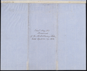 Samuel May Jr., in account with Supplementary Anti-Slavery Sale, April 20 & 21, 1858
