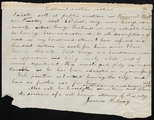 Two manuscripts on the Latimer case