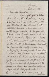 Letter from Samuel May, Jr., Leicester [Mass.], to William Lloyd Garrison, July 2, [18]63