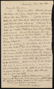 Letter from Samuel May, Jr., Leicester [Mass.], to William Lloyd Garrison, Dec[ember] 28, 1863