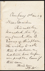Letter from John Greenleaf Whittier, Amesbury [Mass.], to William Lloyd Garrison, [February] 24, [1865]