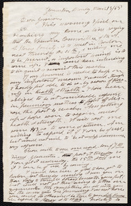 Letter from Henry Clarke Wright, Gloucester [Mass.], to William Lloyd Garrison, Monday, March 13 / [18]65