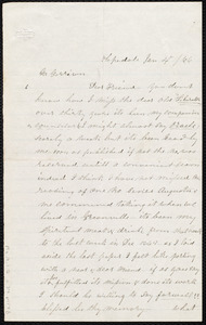 Letter from G. Humphry, Hopedale, [Mass.], to William Lloyd Garrison, Jan. 4 / [18]66