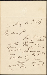 Letter from Norman B. Potter, to William Lloyd Garrison, May 10th, 1869