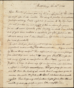 Letter from Elizabeth B. Gillet, Middlebury, to Amos Augustus Phelps, Nov 16th 1824