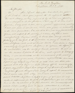 Letter from Mary Ann Hastings, Dedham, to Amos Augustus Phelps, Feb 7 - 1841