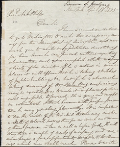 Letter from Simeon Smith Jocelyn, New York, to Amos Augustus Phelps, April 14 1835