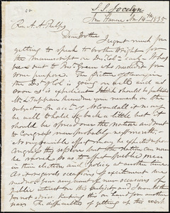 Letter from Simeon Smith Jocelyn, New Haven, to Amos Augustus Phelps, Nov 14th 1835