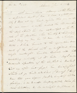 Letter from Edward Norris Kirk, Albany, to Amos Augustus Phelps, Jan. 16. 183[4]