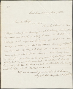 Letter from Lewis F. Laine, Andover, to Amos Augustus Phelps, Aug. 1, 1833
