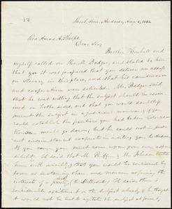 Letter from Lewis F. Laine, Andover, to Amos Augustus Phelps, Aug. 8, 1833