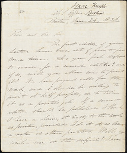 Letter from Isaac Knapp, Boston, to Amos Augustus Phelps, June 24, 1836