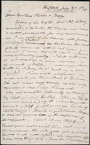 Letter from Joshua Leavitt, New York, to Amos Augustus Phelps and Charles Turner Torrey, July 27, 1840