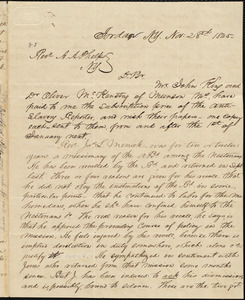 Letter from Thomas Lafon, Jordan, N.Y., to Amos Augustus Phelps, Nov: 28th 1845