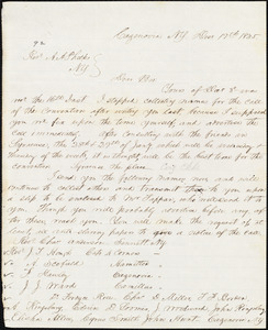 Letter from Thomas Lafon, Cazenovia, N.Y., to Amos Augustus Phelps, Decr. 19th 1845