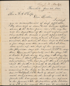 Letter from Job H. Martyn, Haverhill, to Amos Augustus Phelps, June 3d. 1840
