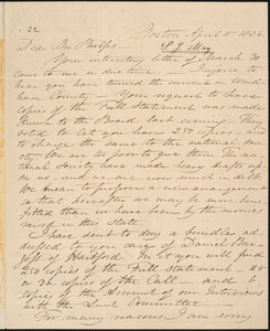 Letter from Samuel Joseph May, Boston, to Amos Augustus Phelps, April 5 1836