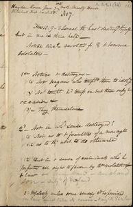 Various notes for sermons, etc. by Amos A. Phelps