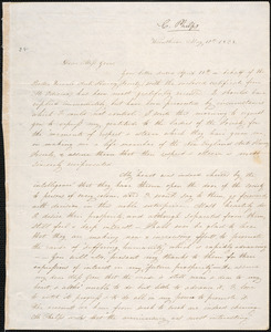 Copy of letter from Charlotte Phelps, Wrentham, to Mary Grew, May 10th 1834