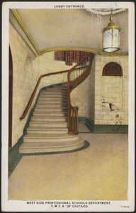 Lobby entrance. West Side Professinal Schools Department, Y.M.C.A. of Chicago