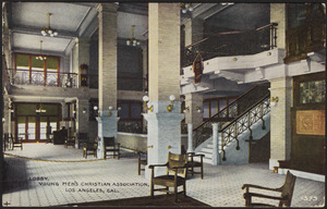 Lobby, Young Men's Christian Association, Los Angeles, Cal.