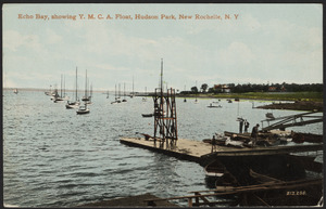 Echo Bay, showing Y.M.C.A. float, Hudson Park, New Rochelle, N.Y.