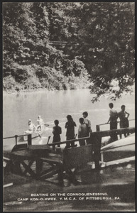 Boating on the Connoquenessing, Camp Kon-O-Kwee, Y.M.C.A. of Pittsburgh, Pa.