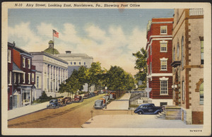 Airy Street, looking east, Norristown, Pa., showing post office