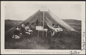 Y.M.C.A. tent, Fort Terry, Fishers Island, Coast Artillery, C. N. G.