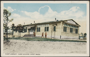 Camp library, Camp Devens, Ayer, Mass.