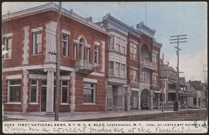 First National Bank, & Y.M.C.A. Bldg, Lestershire, N.Y.