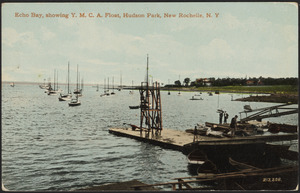 Echo Bay, showing Y.M.C.A. float, Hudson Park, New Rochelle, N. Y