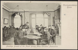 Brooklyn branch for the Naval Young Mens Christian Association, correspondence room