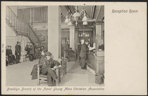 Brooklyn Branch of the Naval Young Mens Christian Association reception room