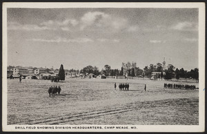 Drill field showing Division Headquarters, Camp Meade, MD