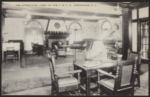 The attractive lobby of the Y.M.C.A., Amsterdam, N.Y.