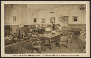 Corner of Messer Memorial Room, YMCA Hotel, 826 South Wabash Ave., Chicago