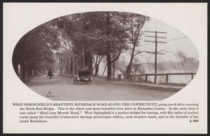 West Springfield's beautiful Riverdale Road along the Connecticut