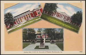 Alderman Library, University of Virginia, Cabel Hall, South End of the Lawn, University of Virginia, Madison Hall Y.M.C.A., University of Virginia, Charlottesville, Va.