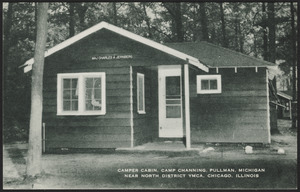 Camper cabin, Camp Channing, Pullman, Michigan near North District YMCA, Chicago, Illinois