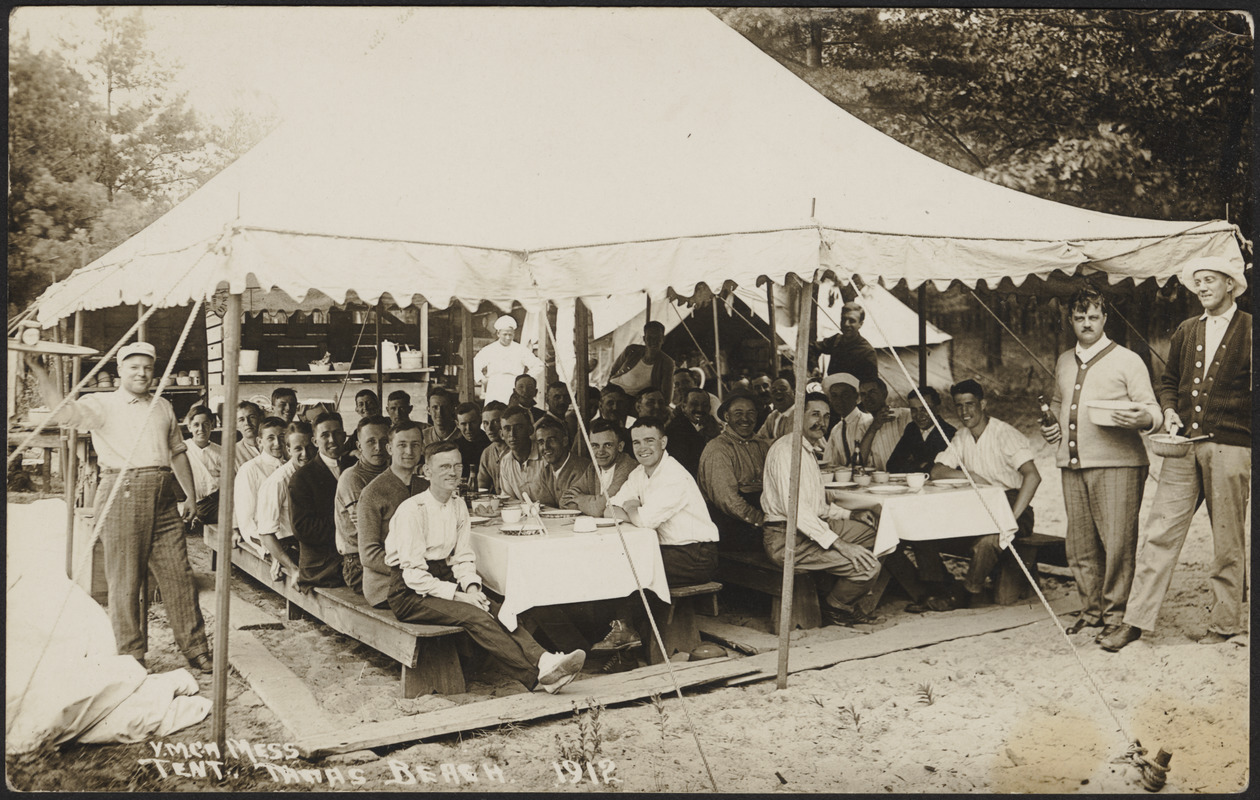 Y.M.C.A. mess tent 1912 & Y.M.C.A. mess tent 1912 - Digital Commonwealth