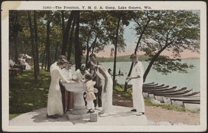 The fountain, Y.M.C.A. Camp, Lake Geneva, Wis.