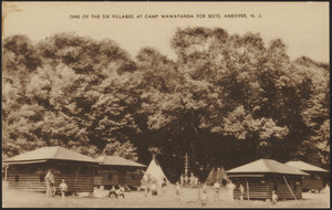 One of the six villages at Camp Wawayanda for Boys. Andover, N. J.