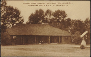 McCleary Lodge recreation hall - Camp Fitch on Lake Erie - Youngstown Ohio Y.M.C.A., N. Springfield, PA.