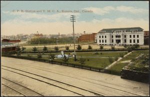 C.P.R. Station and Y.M.C.A., Kenora, Ont., Canada
