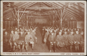 """A typical Y.M.C.A. Social Night crowd"" Camp Lewis, Tacoma, Wash."