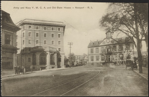 Army and Navy Y.M.C.A. and Old State House - Newport - R.I.