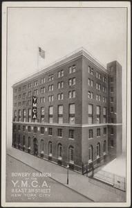 Bowery Branch of the Y.M.C.A. 8 East 3rd Street New York City, N.Y.